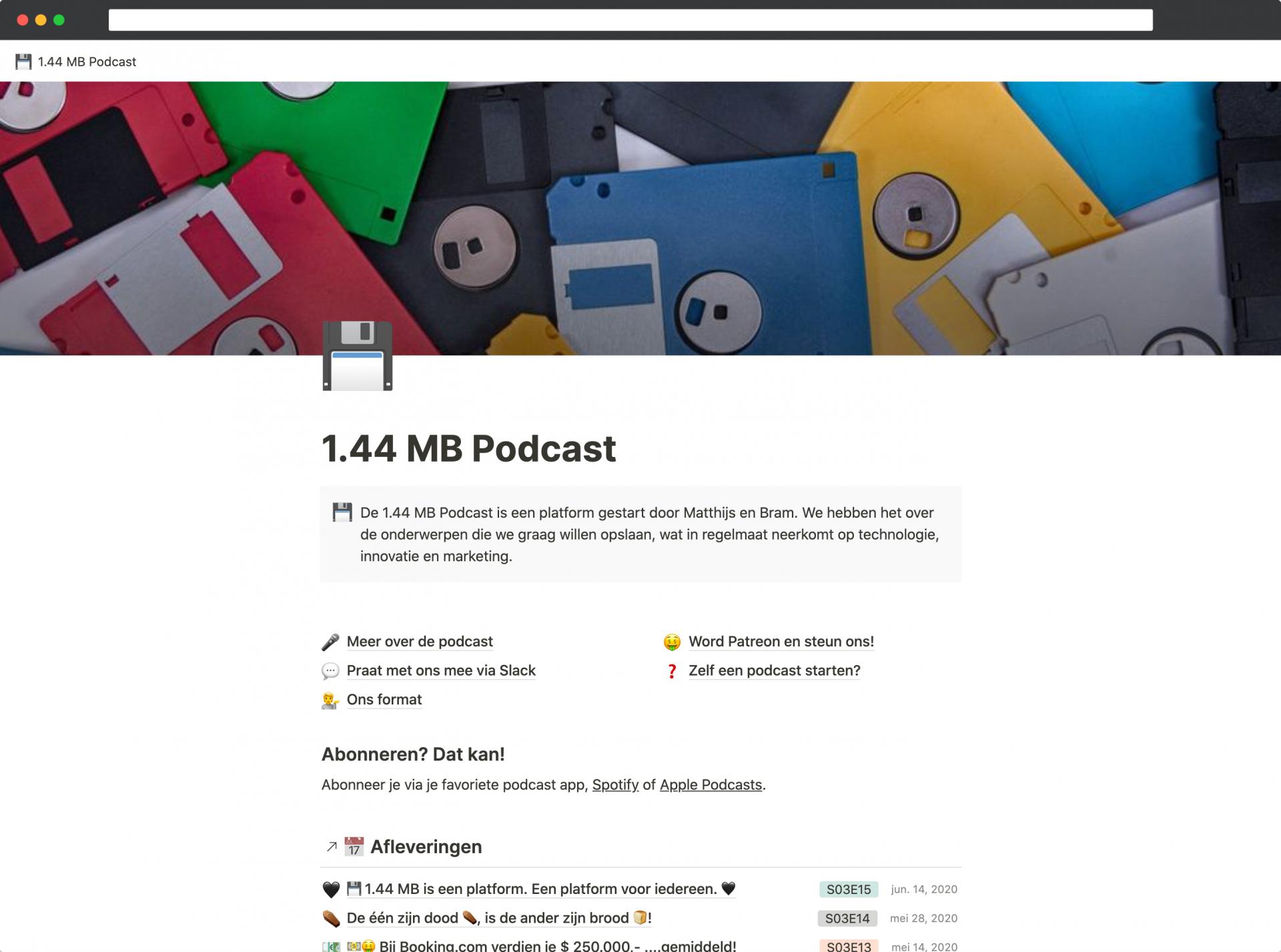 Notion als database voor het meest uitgebreide podcastarchief ever-ooit 🤯